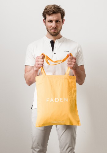 Faden Jutebeutel /orange