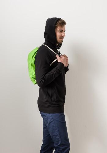 Faden Rucksack - Gymbag /grün