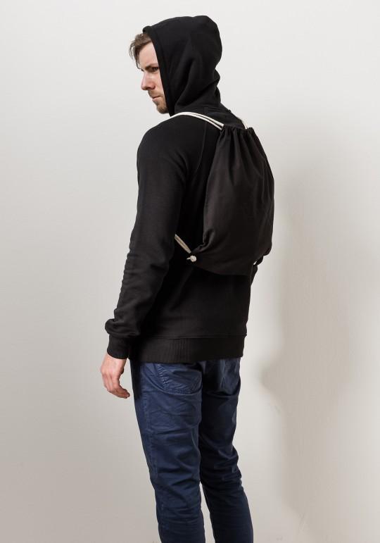 Faden Rucksack - Gymbag /schwarz
